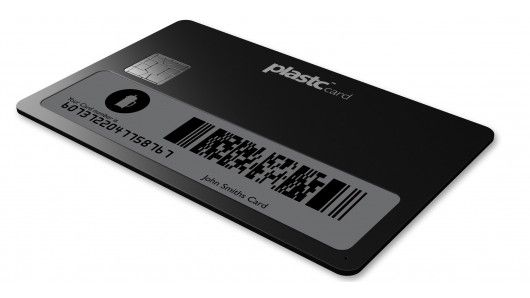 Plastc Card is a new electronic card-format device, that can store the information for up to 20 other cards on it at once. You just select the card that you want to access via the e-ink screen, then use Plastc as if it were that card.