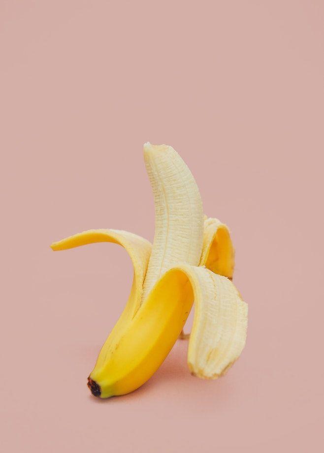 Half Peeled Banana Fruit Banana Fruit Simple Nutrition Fruit