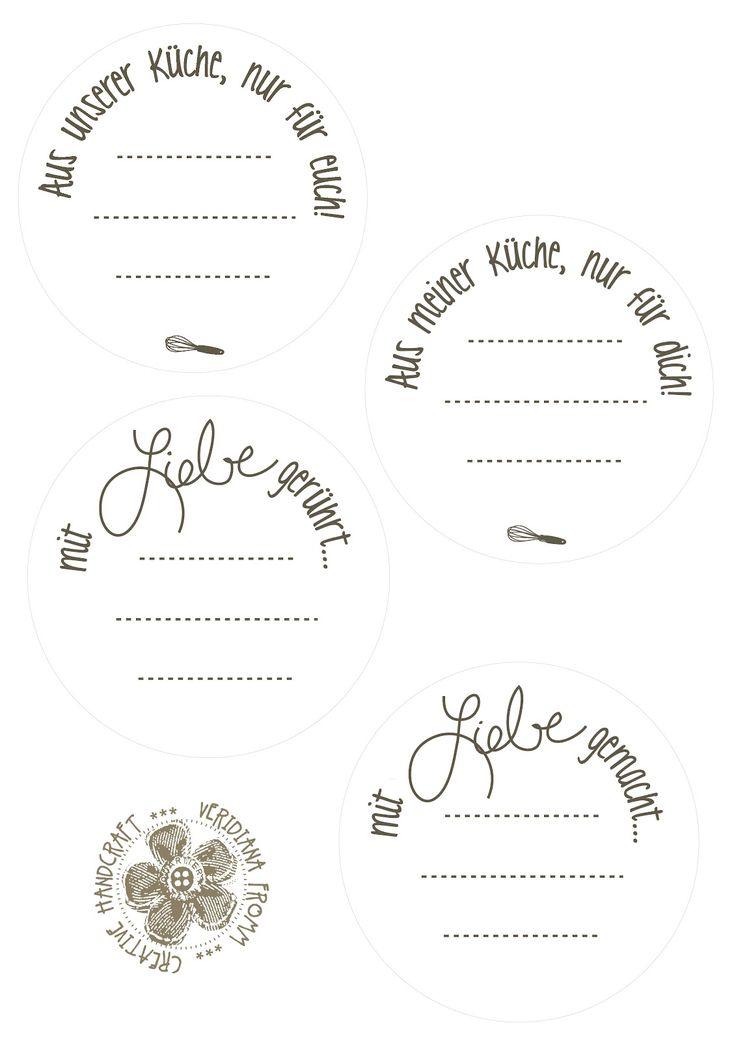 Wie versprochen die Etiketten zum Wochenende:   Ihr könnt sie auf creme-farbenes oder weißes Papier drucken.  Ich stell sie als A4 Datei und...