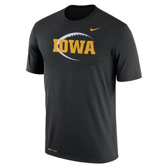 Nike Iowa Hawkeyes Black Football Icon Legend Dri-FIT Performance T-Shirt
