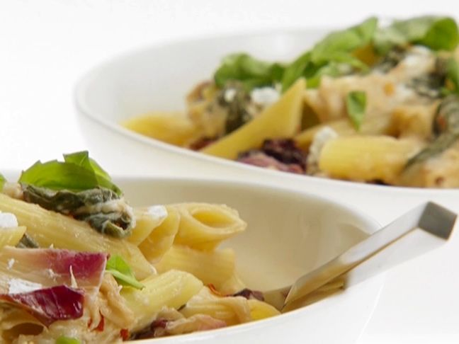Penne with Treviso and Goat Cheese from FoodNetwork.com