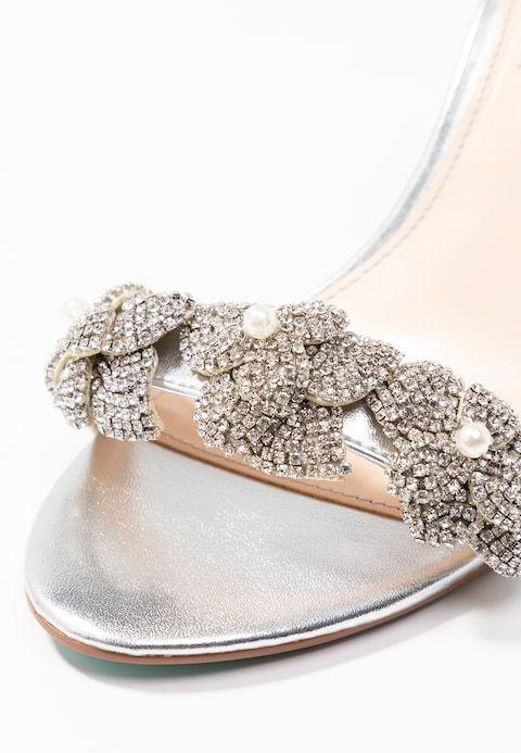 2596a7c61c3 Blue by Betsey Johnson HARLO - High heeled sandals - silver - Zalando.co.