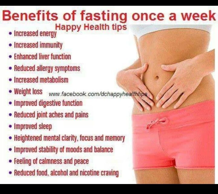 Fasting once a week