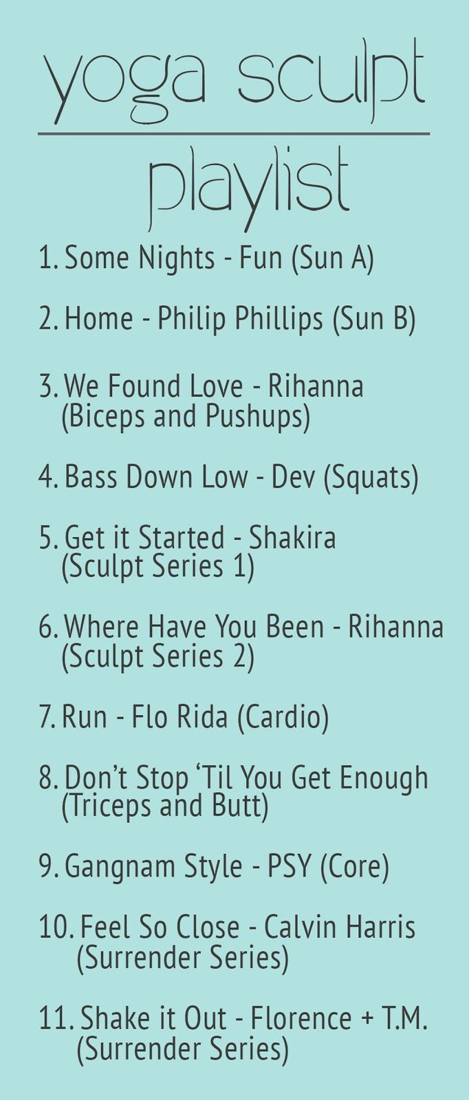 Fit Foodie Finds: Yoga Sculpt Playlist Expand yourself through sound!