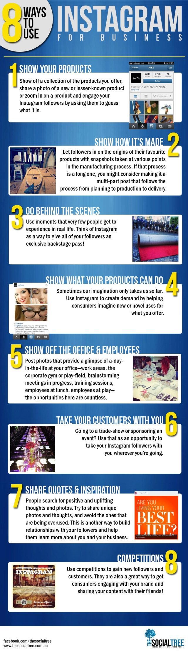 8 ways to use Instagram #infografia #infographic #socialmedia