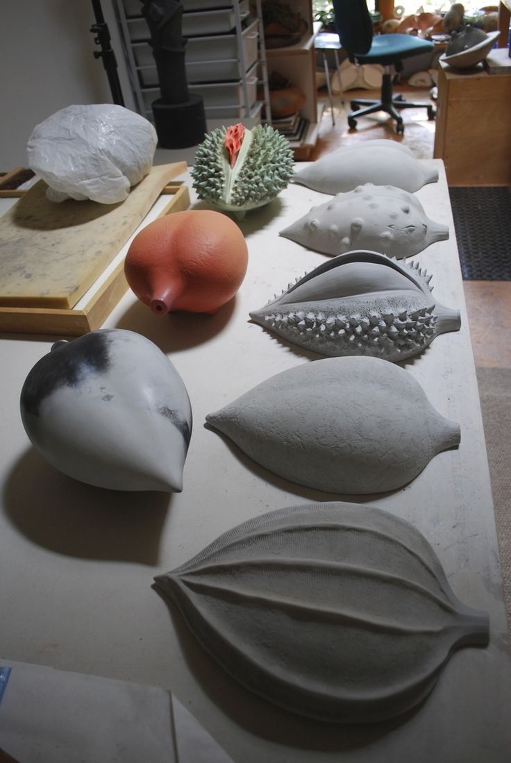 Alice Ballard's studio - Half-Pods in progress