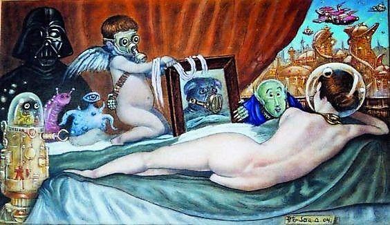 """CABEZAS SOÑADORAS: """"La Venus de las Galaxias """" óleo sobre tabla de P..."""