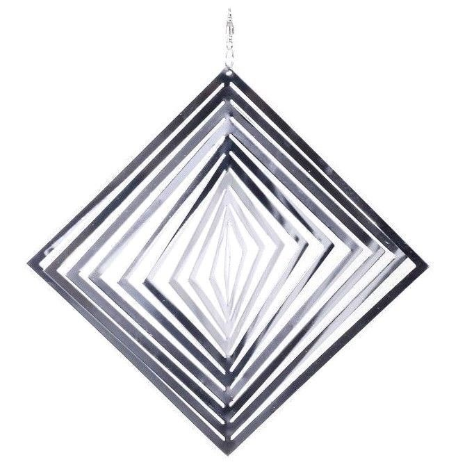 Metal Windspinner Sun Catcher Garden Ornament Diamond Shaped Home Garden Mobile #Gardens2you #Contemporary