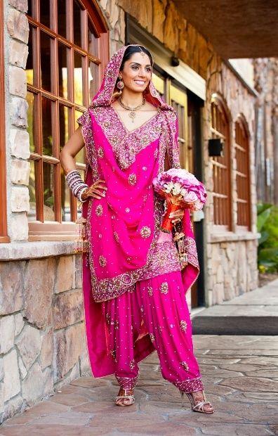 punjabi wedding bridal suits designs
