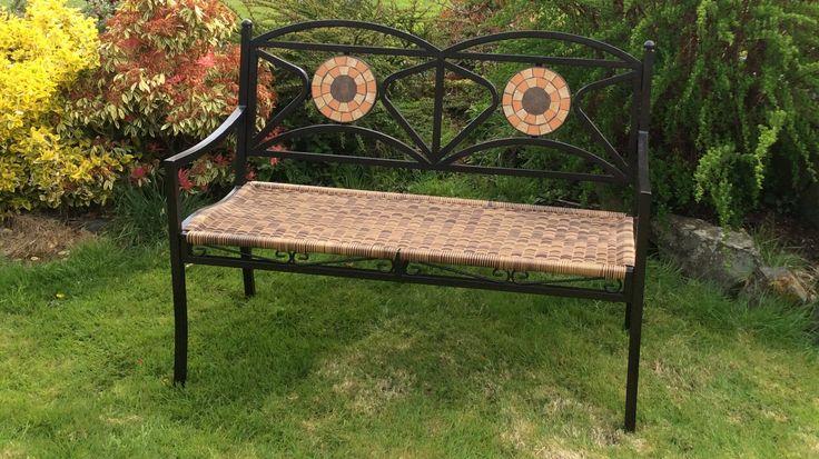 Rattan Mosaic Bench