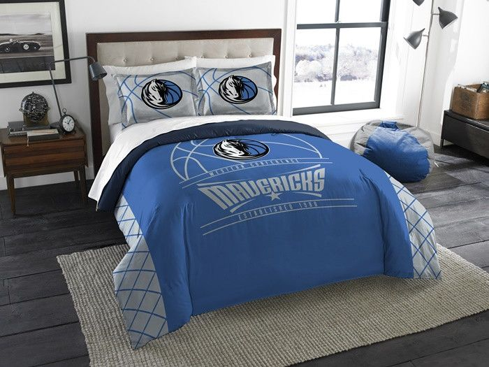 Dallas Mavericks NBA Reverse Slam Full-Queen Comforter Set. Includes 2 Shams and Comforter. Visit SportsFansPlus.com for Details.