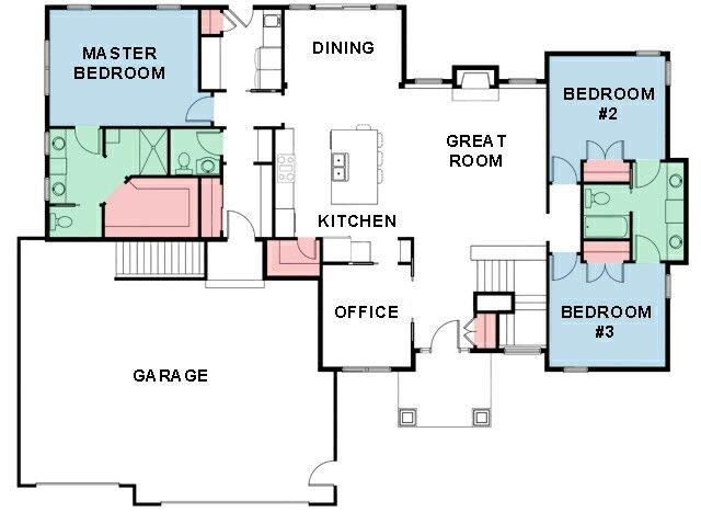 Tamarack Floor Plan -- Cypress Homes