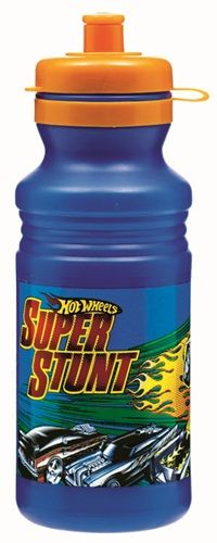 A day at the races is sure to have party goers feeling parched.  What better way to quench their thirst and say thanks for coming then to send party guests home with their very own Hot Wheels Super Stunt Sports Bottle.  Each super charged plastic bottle features the Hot Wheels Super Stunt logo in red and yellow along with the image of a tricked out racecar making the jump over a row of 6 cool cars.  The boost of flames coming from the stunt car is the added touch needed to help make the jump…