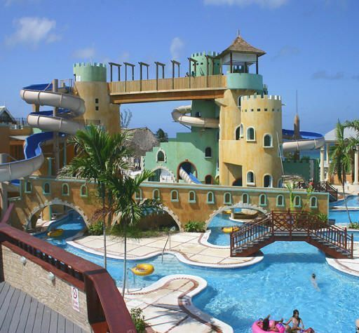 Sunset Beach Resort Spa & Waterpark, in Montego Bay: profile for families of this Jamaica all inclusive resort with kids programs and its own waterpark.