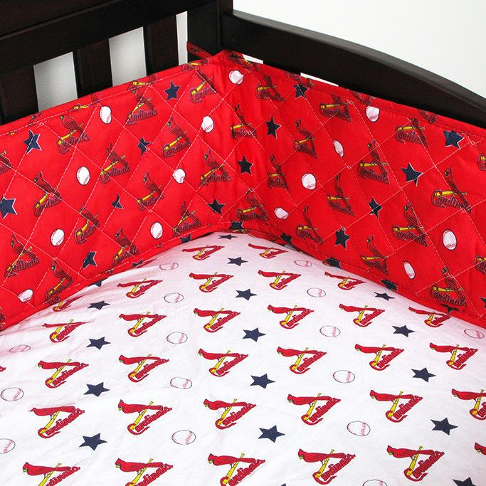 St Louis Cardinals Mlb Micro Fiber Crib Bumper Sportscoverage
