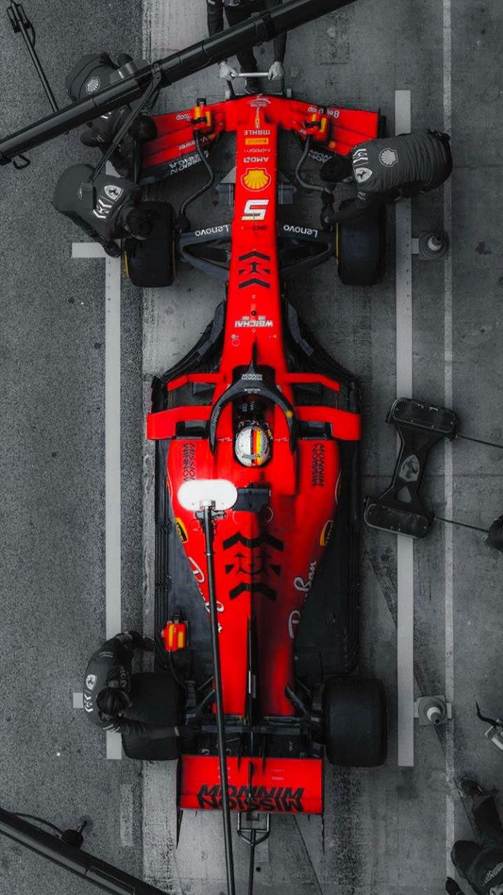 Red Black Wallpaper Ferrary F1 Mission Minnow Mobil Sport Mobil Balap Mobil Klasik