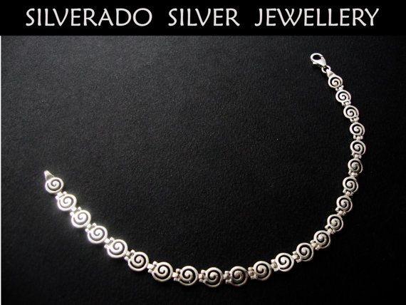 Ancient Greek Spiral Key Modern Swirl by SilveradoJewellery, €49.00
