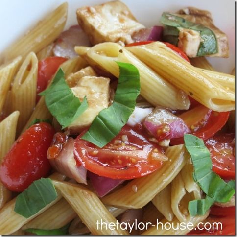 Pasta Caprese Salad that's perfect any time of the year