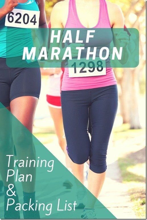 Half Marathon In 10 Weeks Training Plan And Race Packing List And