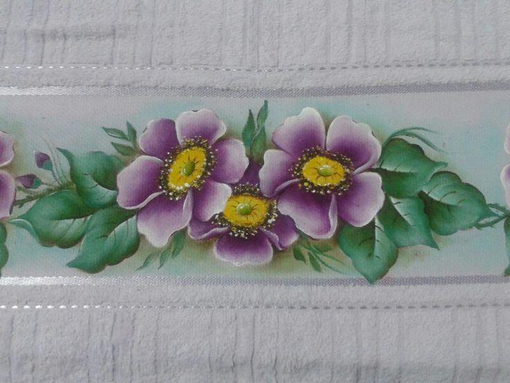445 mejores im genes de pintura en tela toallas - Pintura de baneras ...
