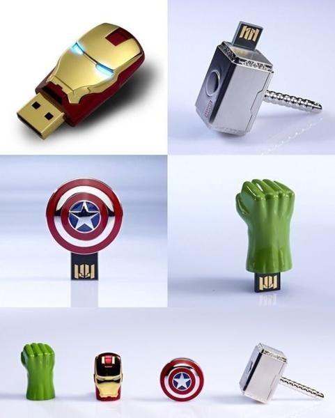 The Avengers USB Flash Drives geeky-stuff: Usb Driving, Usb Flash Driving, Avengers Usb, Captain America, Sticks, Ironman, Irons Men, Theaveng, The Avengers