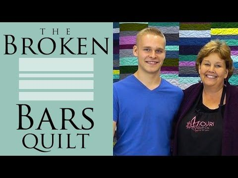 ▶ The Broken Bars Quilt: Easy Quilting Tutorial with Jenny Doan of Missouri Star Quilt Co - YouTube
