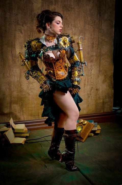 Awesome steampunk dress!