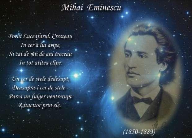 15 ianuarie 1850, ziua de naştere a lui Mihai Eminescu, poetul naţional al…
