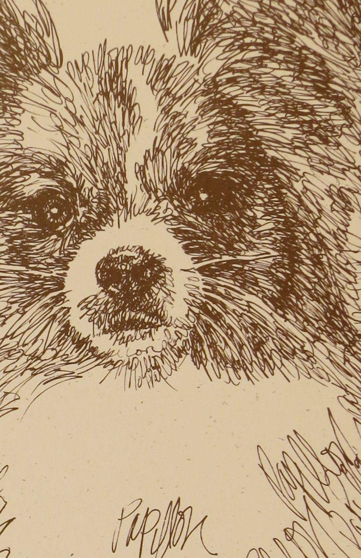 Papillon Artist Kline Draws His Dog Art Using Only Words Etsy Papillon Dog Dog Art Dog Portraits [ 1137 x 736 Pixel ]