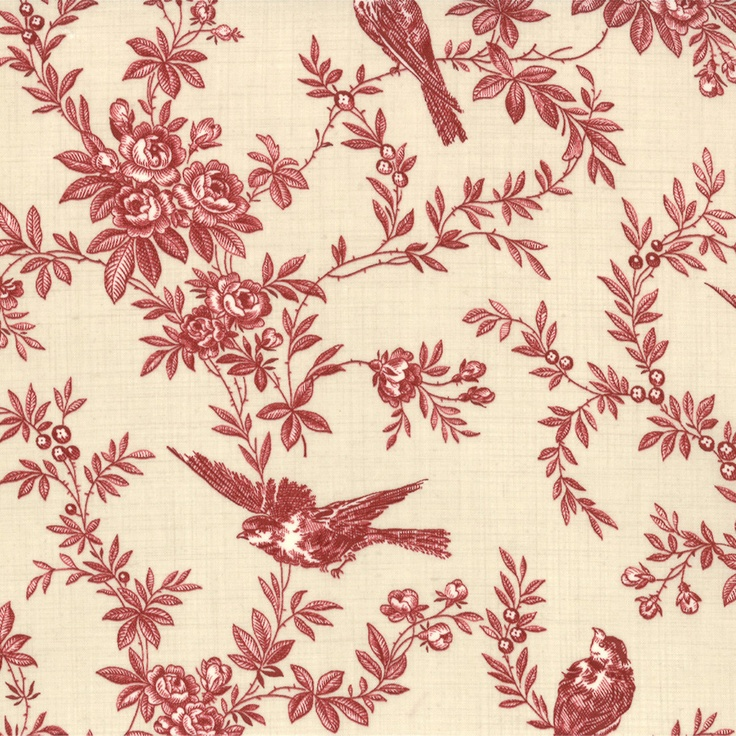 164 best images about toile house on pinterest for Bird nursery fabric
