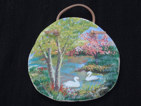 Hand Painted Ceramic Plaque by GiftedButterfly on Etsy, $45.00