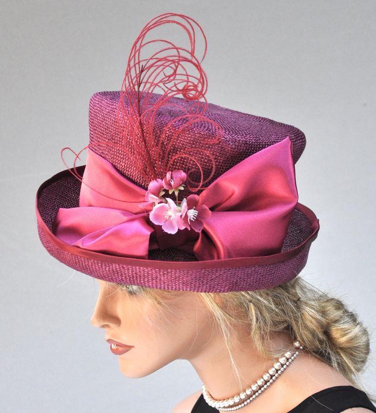 Kentucky Derby Hat, Royal Wedding Hat, Pink Top Hat, Ladies Pink Hat, Ascot Hat, Women's Pink Straw Hat, Fancy Hat, Event Hat Occasion Hat
