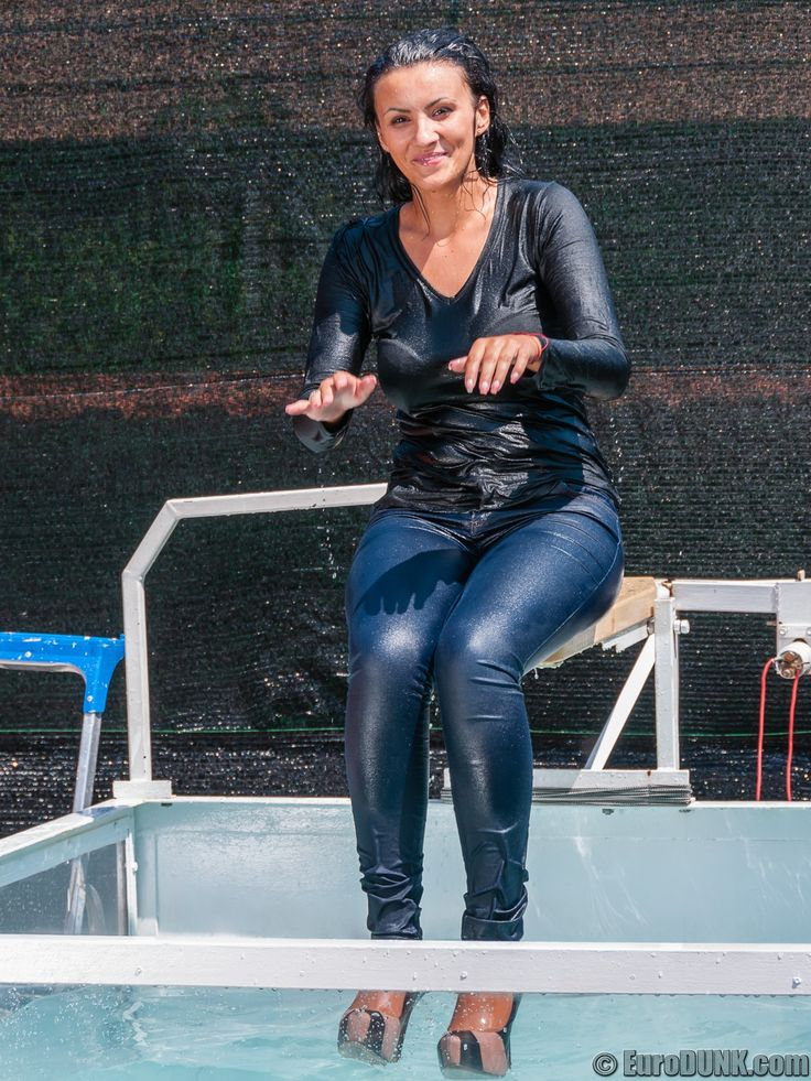 Sabina In The Dunk Tank In 2019 Wet T Shirt Thigh Socks