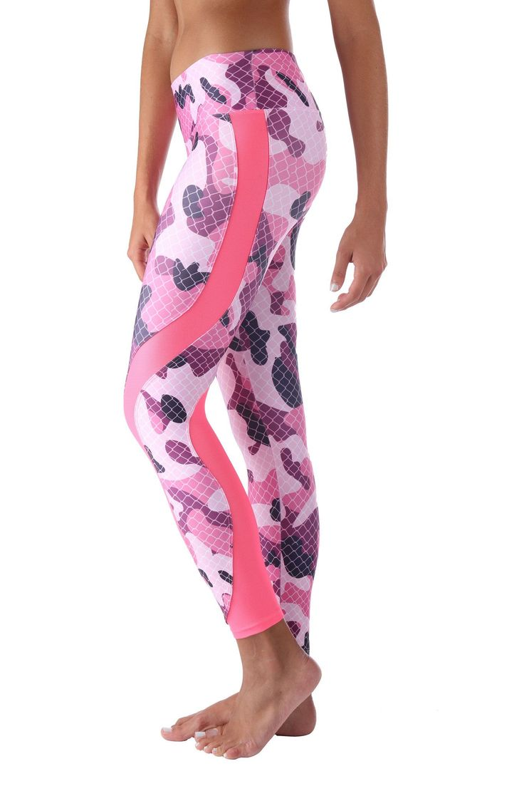 Pink Camo w/ Mesh Leggings These beautiful Brazilian leggings are super fun and durable providing a four way stretch and a body slimming design! Features: Wide waistband Suitable for Running, Yoga, Pilates, Working Out, Dance, cycling and More Pilling resistant Quick Dry Superior polyester Cool, thick and soft material Size Chart: S/M 0-6 (US) M/L 6-10 (US) L/XL 10-14 (US)