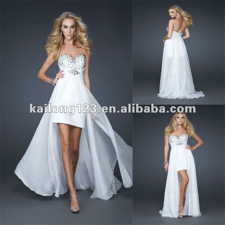 High low wedding dress for the party time after the for Long dress for wedding reception