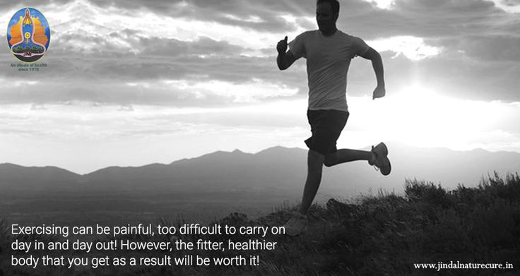Exercising can be painful, too difficult to carry on day in and day out…