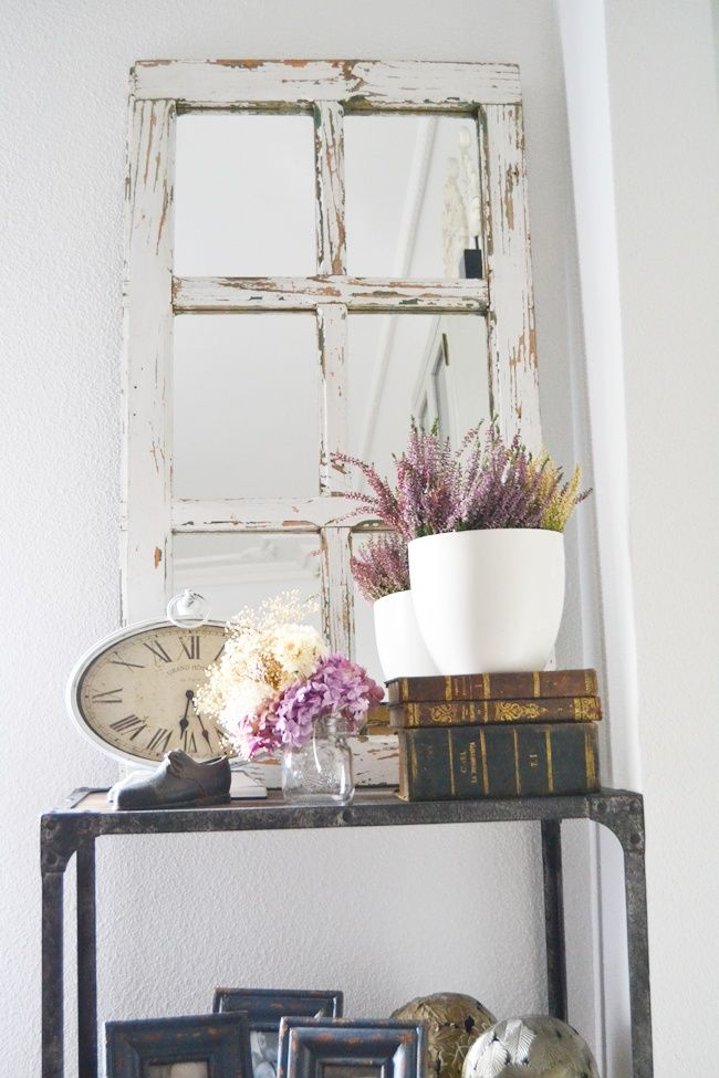 Casa de revista diy ventana espejo la chimenea de las for Espejos decorativos para chimeneas