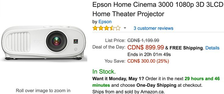 Amazon Canada Deals Of The Day: Save $300 on Epson Home Theater Projector 63% on Marenja Crystal-Womens Neckla... http://www.lavahotdeals.com/ca/cheap/amazon-canada-deals-day-save-300-epson-home/195510?utm_source=pinterest&utm_medium=rss&utm_campaign=at_lavahotdeals