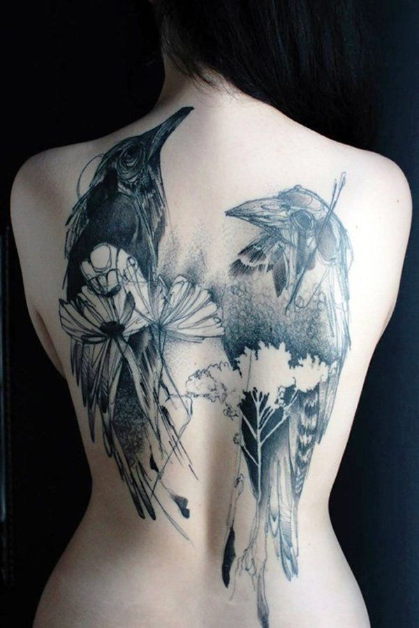 20 Fabulous Tattoos On Back For Women – Flawssy