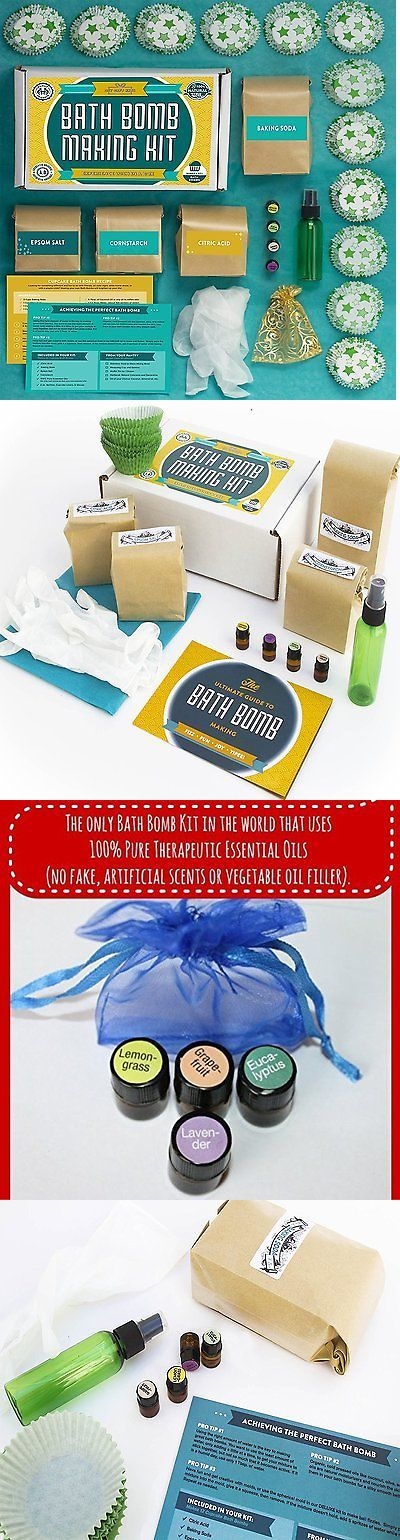 Bath Bombs and Fizzies: Bath Bomb Making Kit With 100% Pure Therapeutic Grade Essential Oils, Makes 12 -> BUY IT NOW ONLY: $47.49 on eBay!