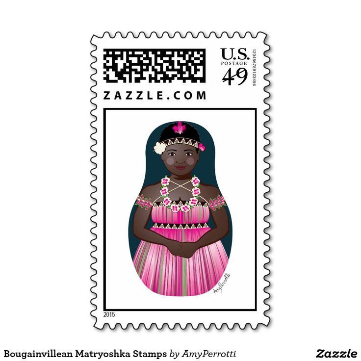 Bougainvillean Matryoshka Stamps