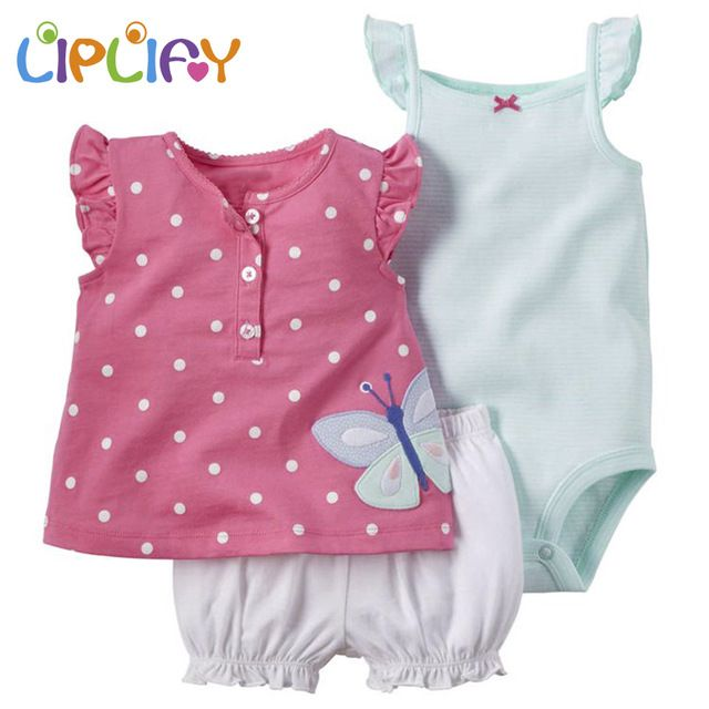 Promotion price 2017 New born baby set Autumn babies clothes New arrival normal size 3-piece Bodysuit Pant Set free shipping baby girl cloth just only $13.19 - 14.24 with free shipping worldwide  #babygirlsclothing Plese click on picture to see our special price for you