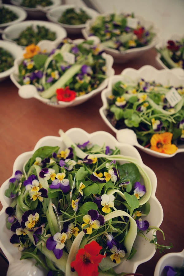 Heartsease and Nasturtium salad: