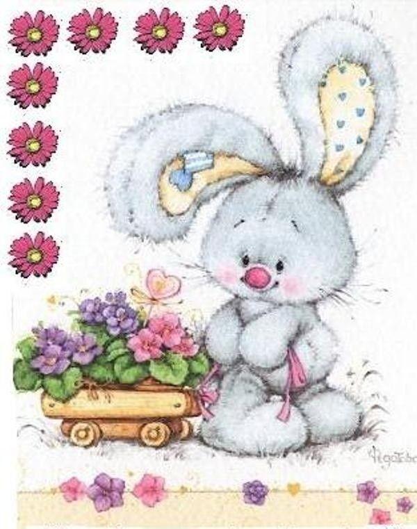 Необычные, открытка с зайкой