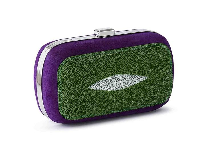 siwa galuchat vert et violet - Vert Et Violet