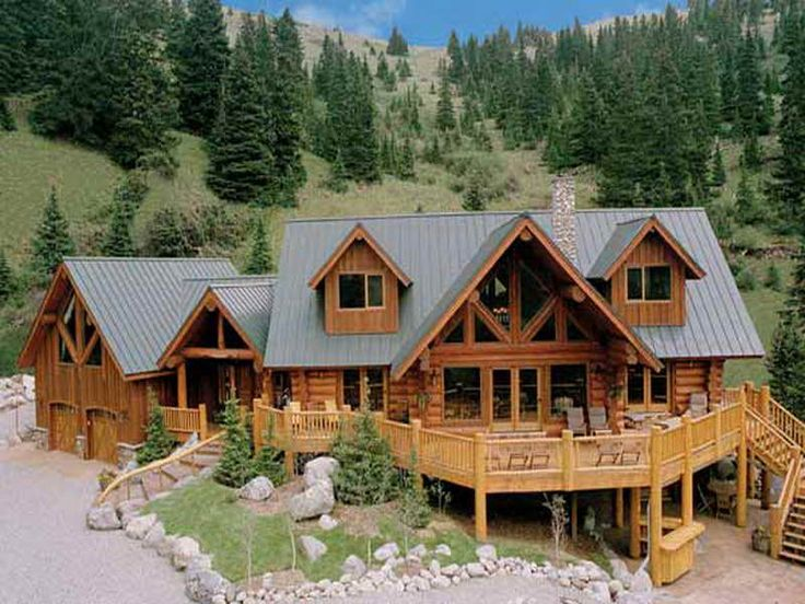 Ranch style log home plans for Ranch style log home designs
