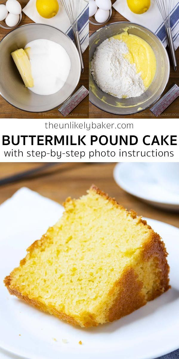 Buttermilk Pound Cake With Step By Step Photos In 2020 Buttermilk Pound Cake Easy Cake Recipes Pound Cake Recipes Easy