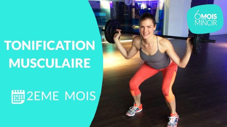 Pour ce 2 ème  mois de programme minceur, Lucile Woodward, coach sportif, vous a préparé une séance de renforcement musculaire avec charges (10kg). La construction du muscle est une étape essentielle de ce programme, qui va vous permettre ensuite de brûler plus de calories dans vos activités au quotidien. Si vous débutez, n'hésitez pas à reprendre les séances de    cardio   ,    tonification musculaire    et    stretching du 1 er  mois   . Pour obtenir des résultats,    mangez équilibré…