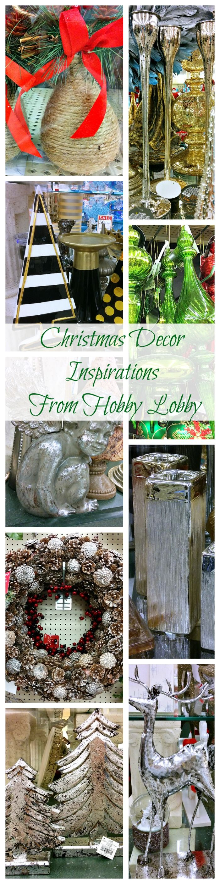 CHRISTMAS DECOR IDEAS & INSPIRATIONS FROM HOBBY LOBBY  So many unique holiday decor items!!! And there's tons more to see!
