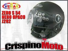 CASCO JET MODELLO ZERO COLORE NERO OPACO (J202) TAGLIA S 54